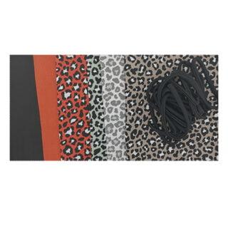 Zelf mondkapje maken DIY pakket compleet met patroon luipaard print roestbruin taupe groen