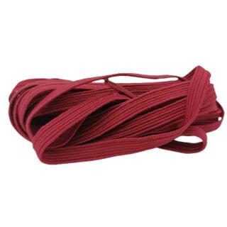 Elastisch lint bordeaux rood 6mm breed armband mondkapjes koord
