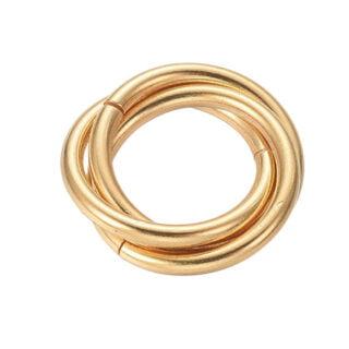 RVS gouden ringen bedels interlocking