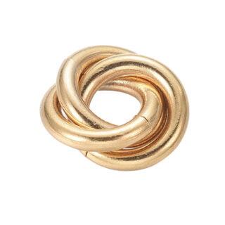 Stainless steel ring bedels goud 1.4cm