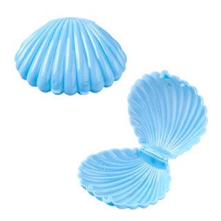 Opbergdoosje cadeau verpakking schelp blauw zeemeermin