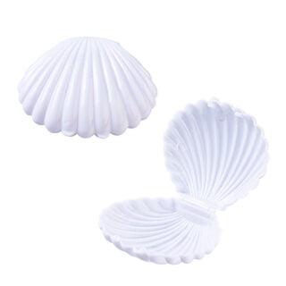 Schelpen doosje cadeautje zeemeerminnen feestje wit