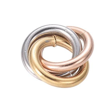 3 kleurige ringen tussenstuk goud zilver rosé 16mm