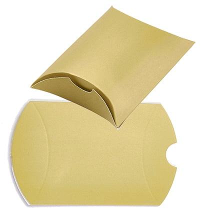Cadeau doosje goud karton