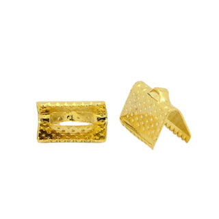 Gouden lintklem 10mm metaal