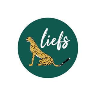 Wensetiket stickers liefs groen leopard cadeautjes inpakken