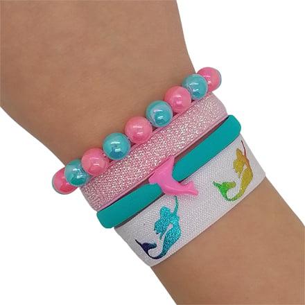 zeemeermin armbandjes elastiek kralen dolfijn meisje