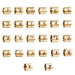 Roestvrijstalen letter kraal goud rond groot gat tube