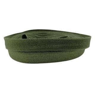 Olijf groen elastisch lint 10mm