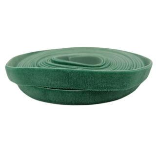 Fluwelen elastiek lint 10mm groen