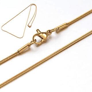 Stainless steel gouden snake ketting
