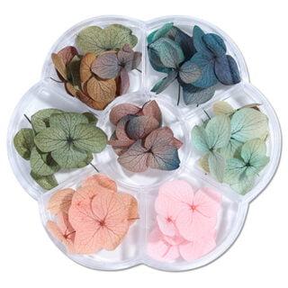 Droogbloemetjes in box herfst tinten