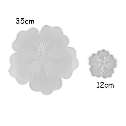 Siliconen mallen bloemen groot en klein onderzetters