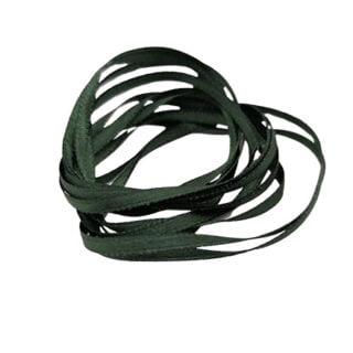 Satijnen lint 3mm dun donker groen