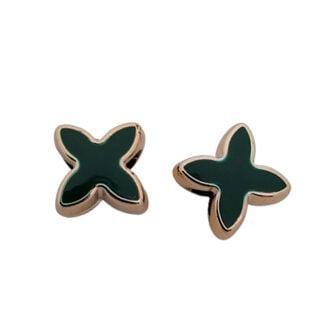Groot gat kraal groen goud x