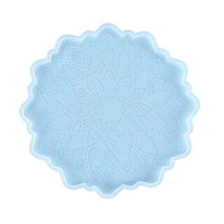 Bloemen mal siliconen groot onderzetter lace patroon