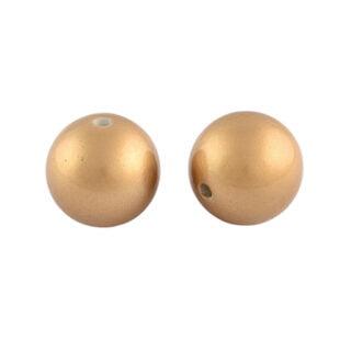 Matte ronde kralen 8mm goud kunststof