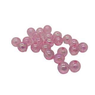 Kunststof kraal rond 8mm pearl roze