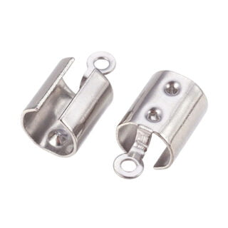 Stainless steel veterklemmen zilver 12mm