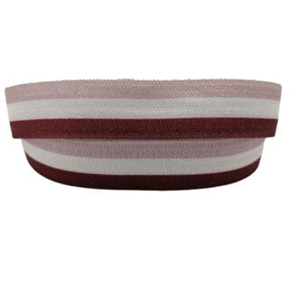 Roestbruin taupe elastiek lint sieraden maken 1.5cm breed