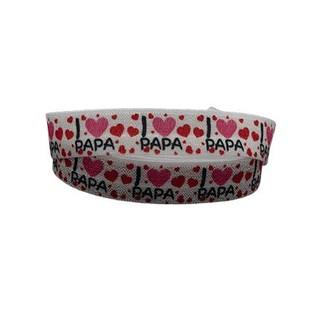 Elastisch Ibiza lint I love papa vader cadeautje zelf maken