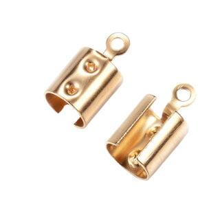 Stainless steel veterklem goud 12mm