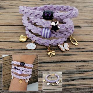 wrap ons DIY setje gevlochten armband met bedeltjes