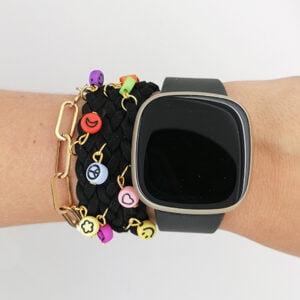 Smart watch combineren met sieraden zelf maken wrap on armband