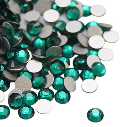 Rhinstone glas steentje emerald groen SS34